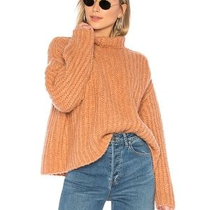 Nwot Free People fluffy Fox chunky sweater slouchy